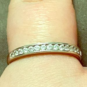 Women's size 10 wedding band sterling silver 925